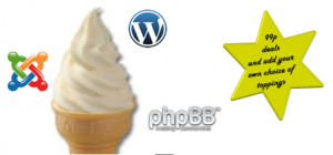 stick a flake in it - hosting for 99p
